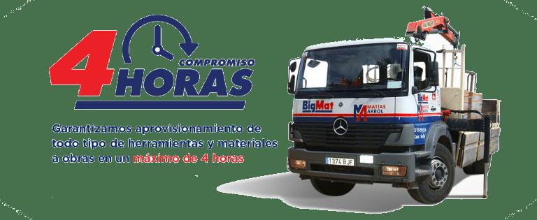 compromiso-transporte-4-horas-1 Materiales de Construcción en Sevilla